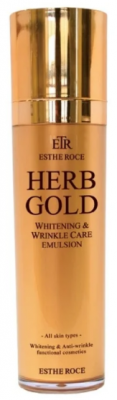 Эмульсия для лица омолаживающая DEOPROCE ESTHEROCE HERB GOLD WHITENING&WRINKLE CARE EMULSION 135мл: фото