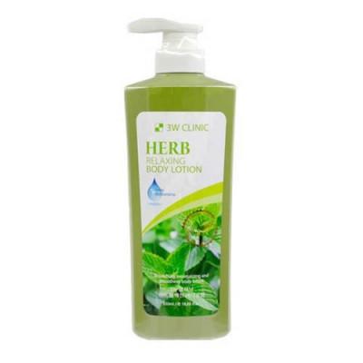 Лосьон для тела ТРАВЫ 3W CLINIC Relaxing Body lotion 550 мл: фото