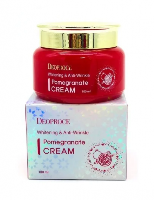 Крем для лица антивозрастной DEOPROCE WHITENING AND ANTI-WRINKLE POMEGRANATE CREAM 100мл: фото