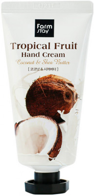 Крем для рук с кокосом FARM STAY TROPICAL FRUIT HAND CREAM COCONUT 50мл: фото