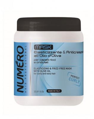 Маска с оливковым маслом для вьющихся волос Brelil Numero Elasticizing & frizz-free Curly 1000мл: фото