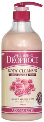 Гель для душа Роза WELL-BEING DEOPROCE AROMA BODY CLEANSER ROSE 1000мл: фото