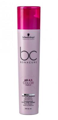 Шампунь нейтрализуюший желтизну Schwarzkopf Professional BC pH 4.5 Color Freeze 250 мл: фото