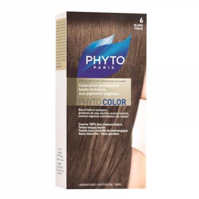 Краска для волос Phytosolba Phyto COLOR 6 Темный блонд СДВОЙКА2*60/40/12 мл: фото