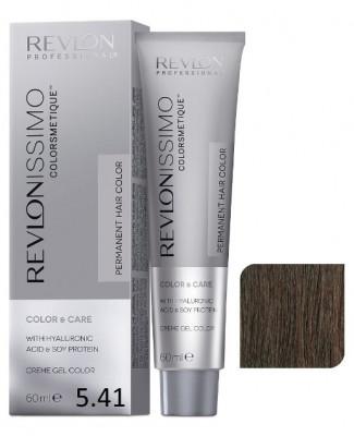 Краска перманентная Revlon Professional Revlonissimo Colorsmetique 5.41 Светло-Коричневый Медно-Пепельный 60мл: фото
