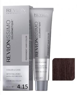 Краска перманентная Revlon Professional Revlonissimo Colorsmetique 4.15 Коричневый Пепельно-Махагоновый 60мл: фото
