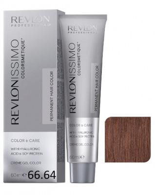 Краска перманентная Revlon Professional Revlonissimo Colorsmetique 66.64 Темный Блондин Красно-Медный 60мл: фото
