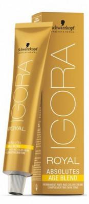 Крем-краска для седых волос Schwarzkopf Professional Igora Royal Absolutes Age Blend 6-460 Темный Русый Бежевый Шоколадный 60 мл: фото