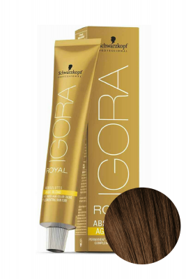 Крем-краска для седых волос Schwarzkopf Professional Igora Royal Absolutes Age Blend 6-07 Темный Русый Натуральный Медный 60 мл: фото