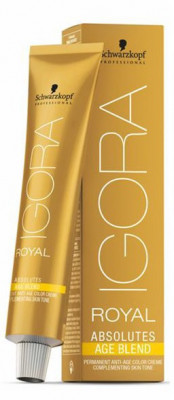 Крем-краска для седых волос Schwarzkopf Professional Igora Royal Absolutes Age Blend 5-80 Светлый коричневый красный натуральный 60 мл: фото