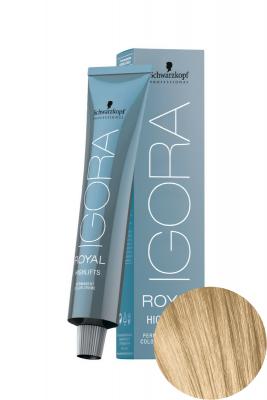 Крем-краска осветляющая Schwarzkopf professional Igora Royal HighLifts 10-4 экстрасветлый блондин бежевый 60мл: фото