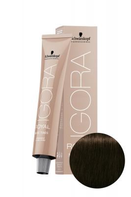 Крем-краска Schwarzkopf professional Igora Royal Nude 4-46 средний коричневый бежевый шоколадный 60мл: фото