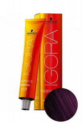 Крем-краска Schwarzkopf professional Igora Vibrance 5-99 светлый коричневый фиолетовый экстра 60мл: фото