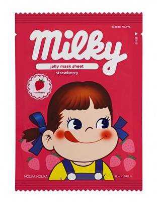 Маска тканевая отшелушивающая с клубникой Holika Holika Peko Jjang Jelly Mask Sheet Strawberry 32 мл: фото