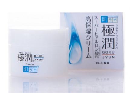 Крем увлажняющий с гиалуроновой кислотой HADALABO Gokujyun Cream 50г: фото