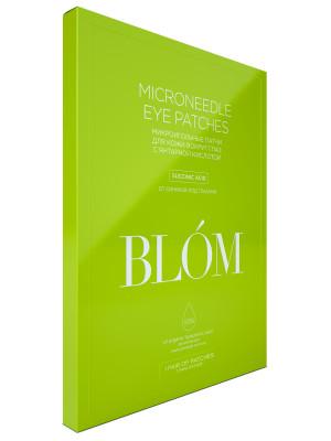 Микроигольные патчи для кожи вокуг глаз с янтарной кислотой BLÓM 1 пара: фото