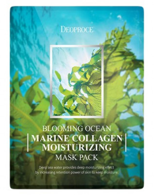 Набор тканевых масок DEOPROCE BLOOMING MARINE COLLAGEN MOISTURIZING MASK PACK 25г*5: фото