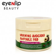 Пады пропитанные эссенцией с авокадо Eyenlip MORNING AVOCADO AMPOULE PAD 100шт: фото