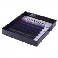 Ресницы Bombini Holi Черно-фиолетовые, 6 линий, изгиб C MIX 8-13 0.07: фото