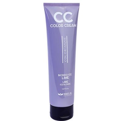 Колорирующий крем Brelil CC-Color Cream ЛАЙМ Ледяной Блонд 150 мл: фото