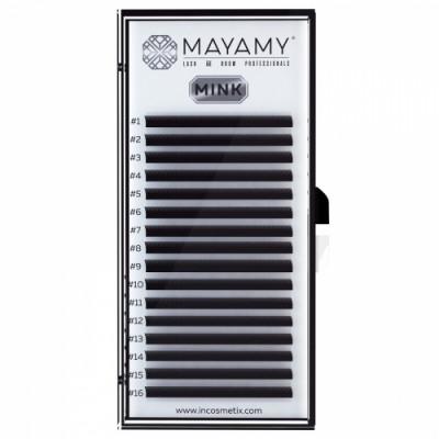 Ресницы MAYAMY MINK 16 линий С 0,10 9 мм: фото