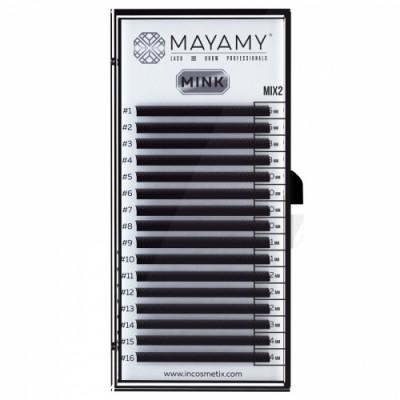 Ресницы MAYAMY MINK 16 линий С 0,05 MIX 2: фото