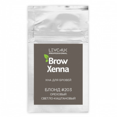 Хна для бровей BrowXenna Блонд #203, ореховый светло-каштановый, саше-рефилл, 6 г: фото