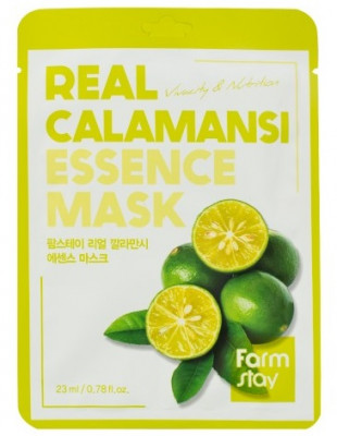 Тканевая маска для лица с экстрактом каламанси FarmStay REAL CALAMANSI ESSENCE MASK 23мл: фото