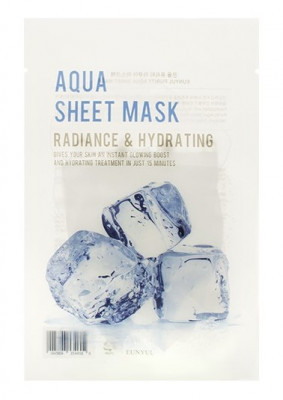 Тканевая маска с гиалуроновой кислотой EUNYUL PURITY AQUA SHEET MASK 22мл: фото