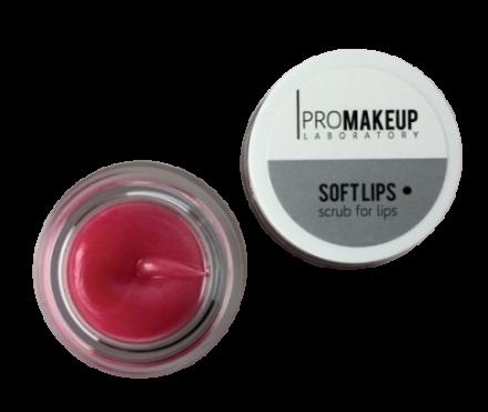 Скраб для губ PROMAKEUP laboratory SOFT LIPS клубника 6г: фото