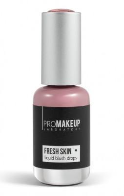 Эмульсионные румяна PROMAKEUP laboratory FRESH SKIN liquid blush drops 01 pale pink 8,5мл: фото
