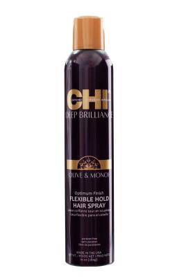 Лак для Волос Эластичной Фиксации Оптимальный Результат CHI Deep Brilliance Olive & Monoi Optimum Finish Flexible Hold Hair Spray 284 г: фото