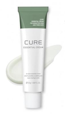 Крем для лица увлажняющий и успокаивающий с алое Cure Essential 50 мл: фото