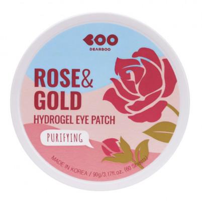 Гидрогелевые патчи для глаз Роза + Золото DEARBOO Purifying Hydrogel Eye Patch Rose&Gold 60шт: фото