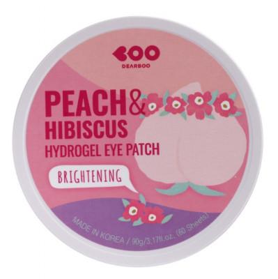 Гидрогелевые патчи для глаз Персик + Гибискус DEARBOO Brightening Hydrogel Eye Patch Peach&Hibiscus 60шт: фото