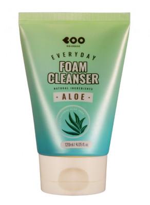 Пенка для умывания с алоэ DEARBOO Aloe Everyday Foam Cleanser 120 мл: фото