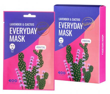 Набор масок для лица увлажняющих DEARBOO Lavender&Cactus 27мл*10шт: фото