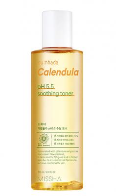 Успокаивающий тонер с календулой MISSHA Su:Nhada Calendula pH Balancing & Soothing Toner 175мл: фото